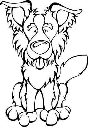 Border Collie Decal Dog