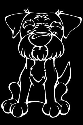 Border Terrier Decal Dog