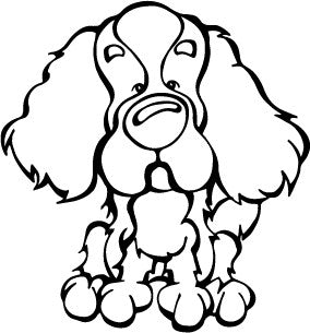 Cavalier King Charles Spaniel Decal Dog