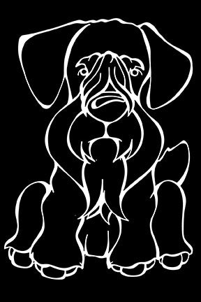 Cesky Terrier Decal Dog