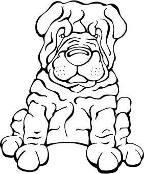 Chinese Shar-Pei Decal Dog