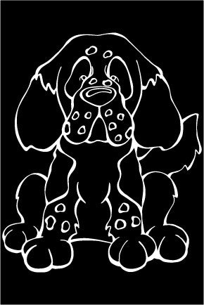 Clumber Spaniel Decal Dog