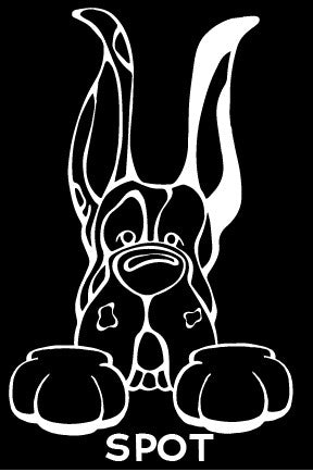 Great Dane Harlequin Cropped Ears Paws Decal