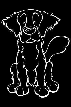 Flat Coated Retriever Decal Dog