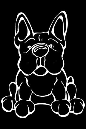 French Bulldog Decal Dog