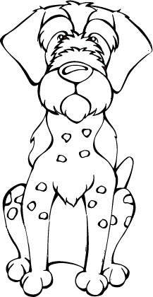 German Wirehaired Pointer Decal Dog