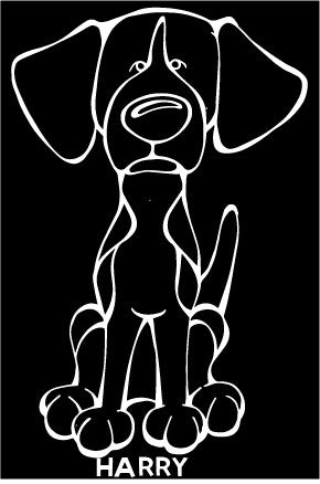 Harrier Decal Dog