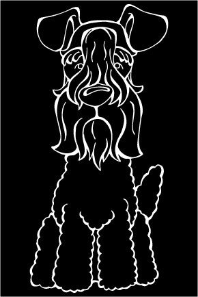 Kerry Blue Terrier Decal Dog