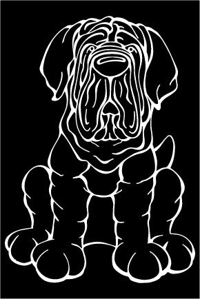 Neapolitan Mastiff Decal Dog