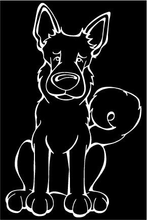 Norwegian Bunhund Decal Dog