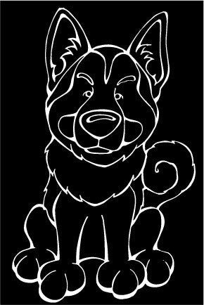 Norwegian Elkhound Decal Dog