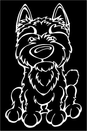 Norwich Terrier Decal Dog