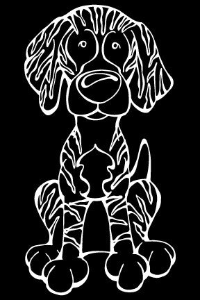 Plott Decal Dog