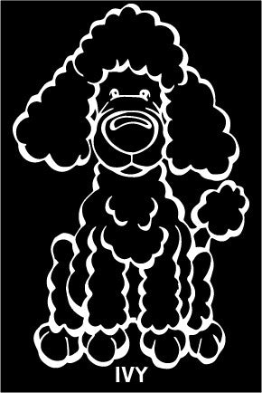 Toy Poodle Decal Dog
