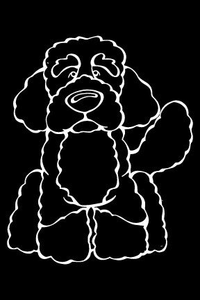 Portuguese Water Dog Decal Dog