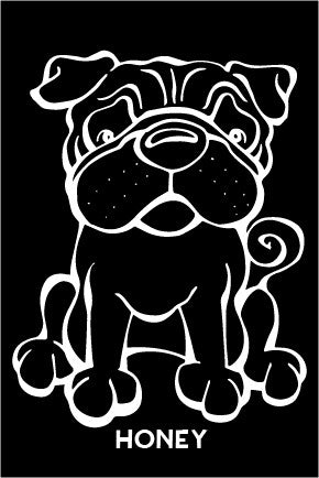 Pug Decal Dog