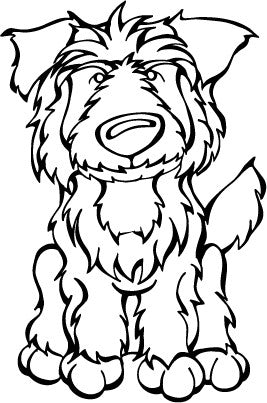 Pyrenean Shepherd Decal Dog