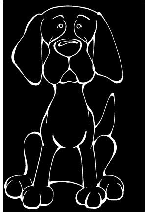 Redbone Coonhound Decal Dog