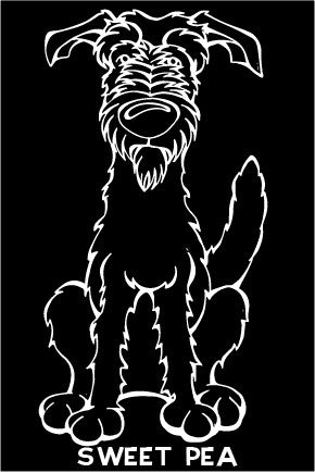 Scottish Deerhound Decal Dog