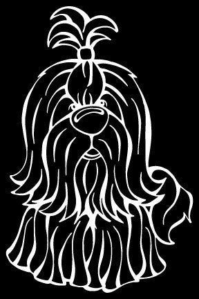 Shih Tzu Decal Dog