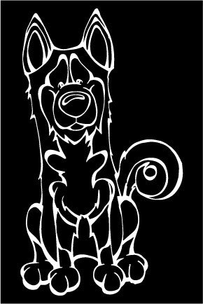 Siberian Husky Decal Dog