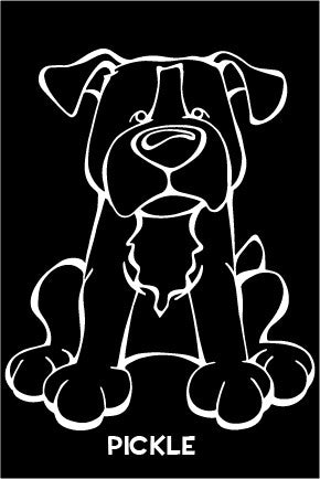 Staffordshire Bull Terrier Decal Dog
