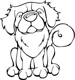 Tibetan Spaniel Decal Dog
