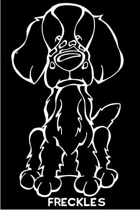 Welsh Springer Spaniel Decal Dog
