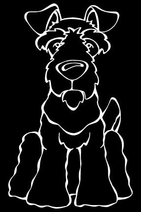 Welsh Terrier Decal Dog