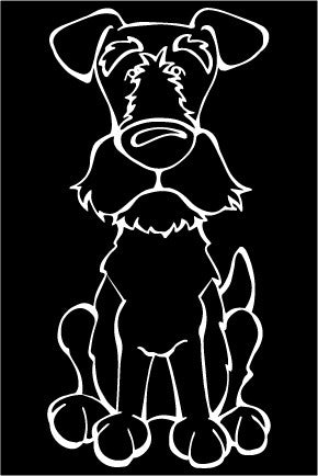 Wire Fox Terrier Decal Dog
