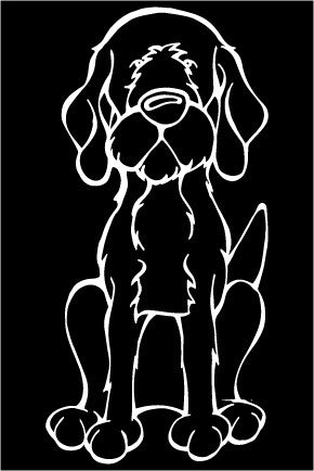 Wirehaired Vizsla Decal Dog