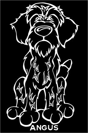 Wirehaired Pointing Griffon Decal Dog