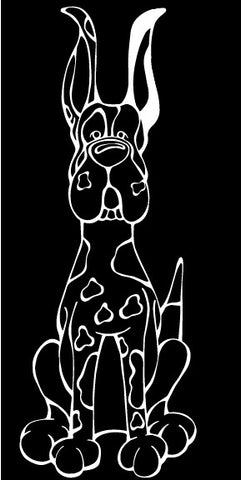 Great Dane Harlequin Cropped Ears Decal Dog