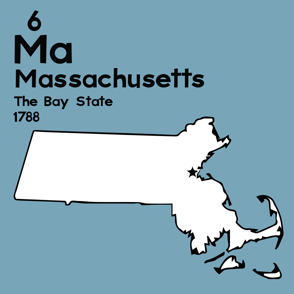 Massachusetts  - Unframed 12x12 Print