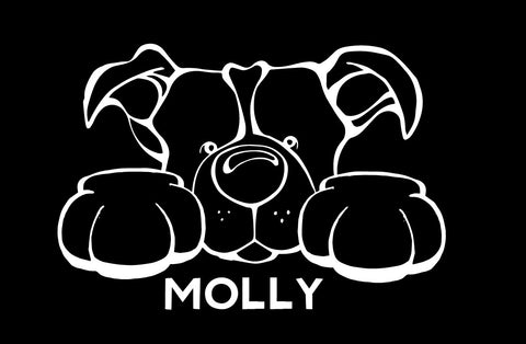 Pit Bull Paws Decal