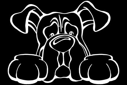 Boxer Paws Decal Dog