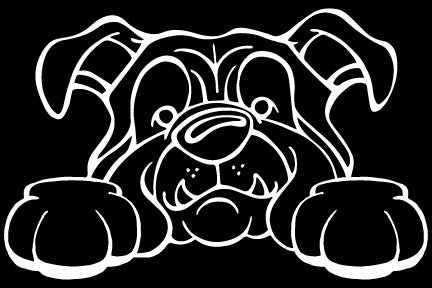 English Bulldog Paws Decal Dog