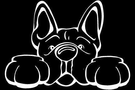French Bulldog Paws Decal Dog
