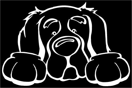 Golden Retriever Paws Decal Dog