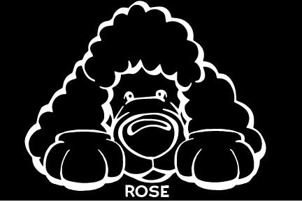 Toy Poodle Paws Decal Dog