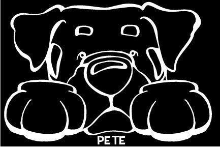 Rottweiler Paws Decal Dog