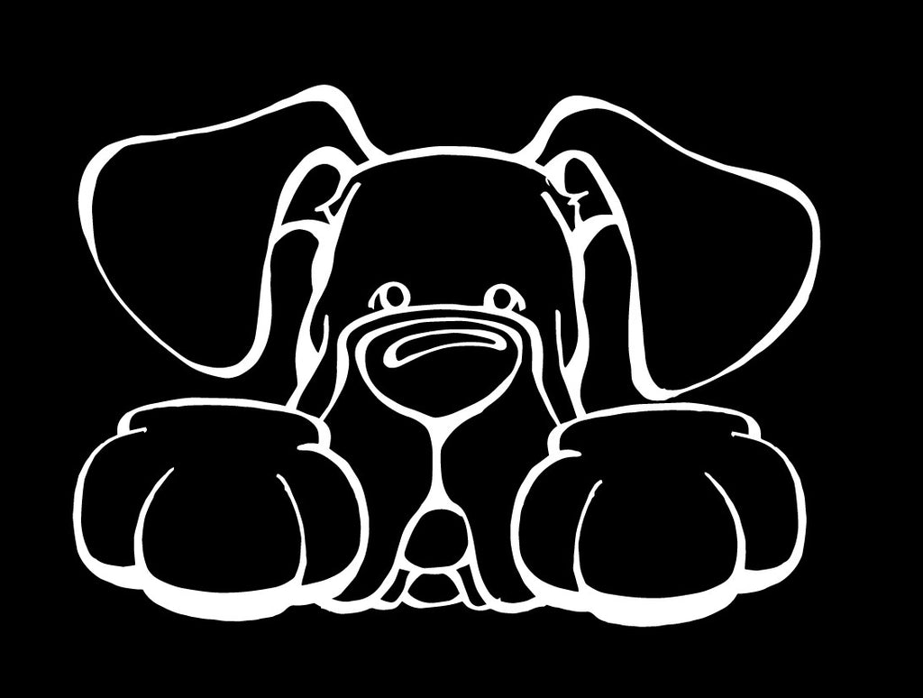 Great Dane Natural Ears Paws Decal