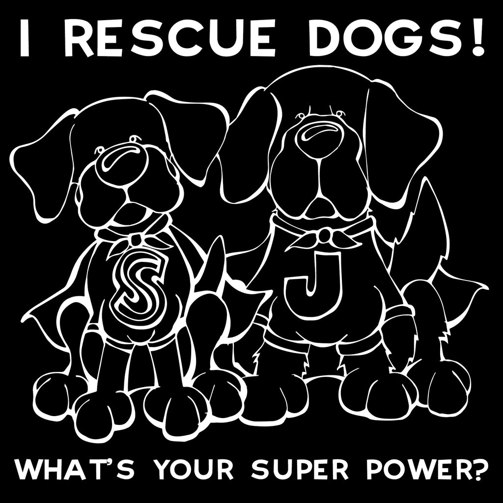 Superhero I Rescue Dogs Decal Dog