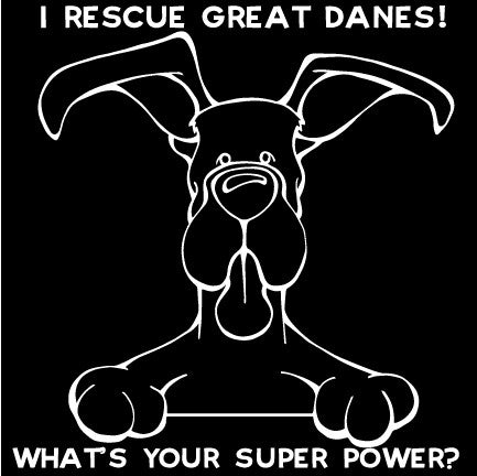 """I Rescue Great Danes"" Decal Dog"