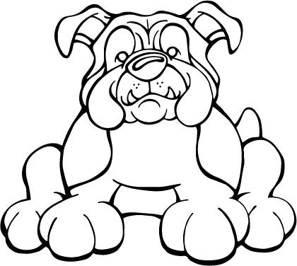 English Bulldog Decal Dog