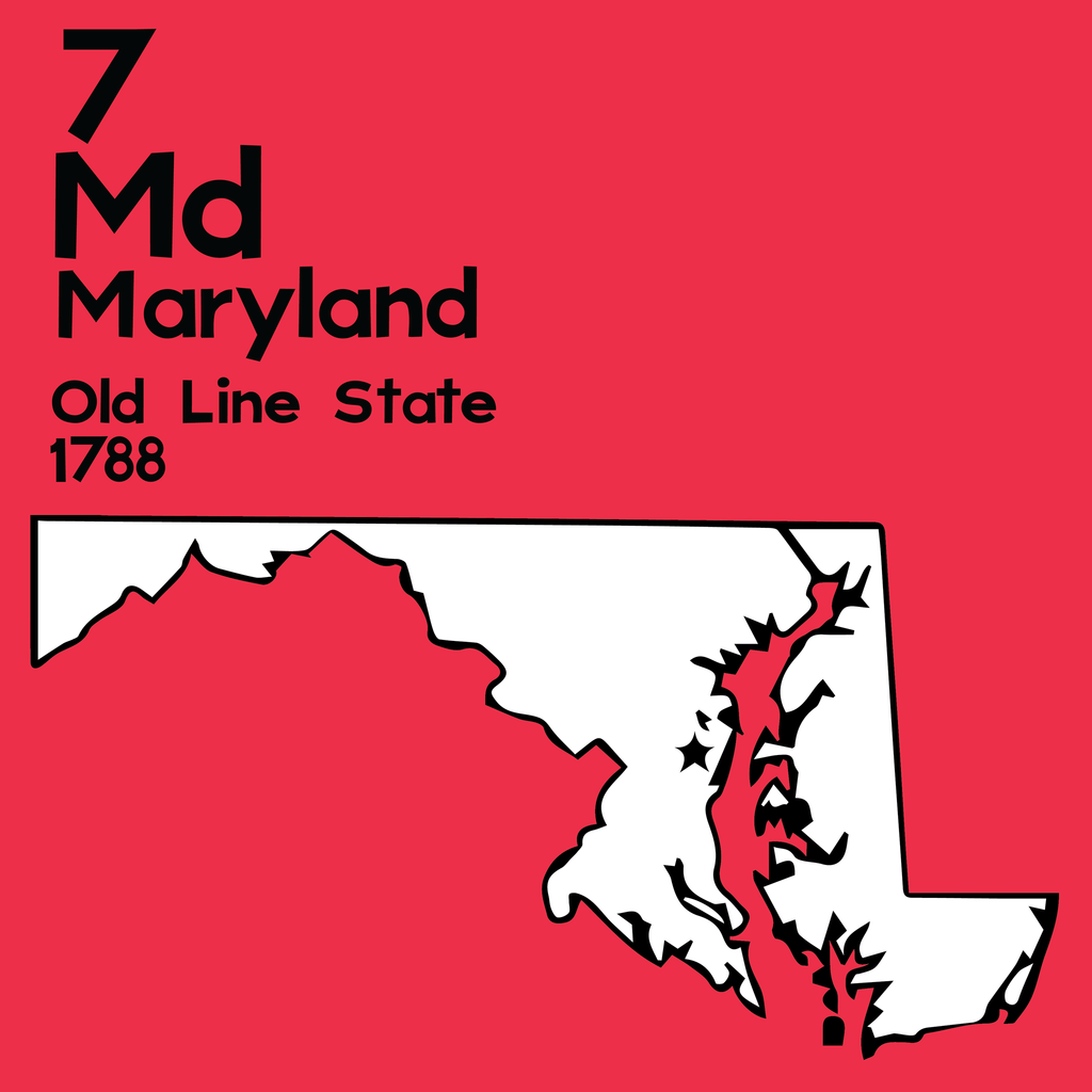 Maryland  - Unframed 12x12 Print