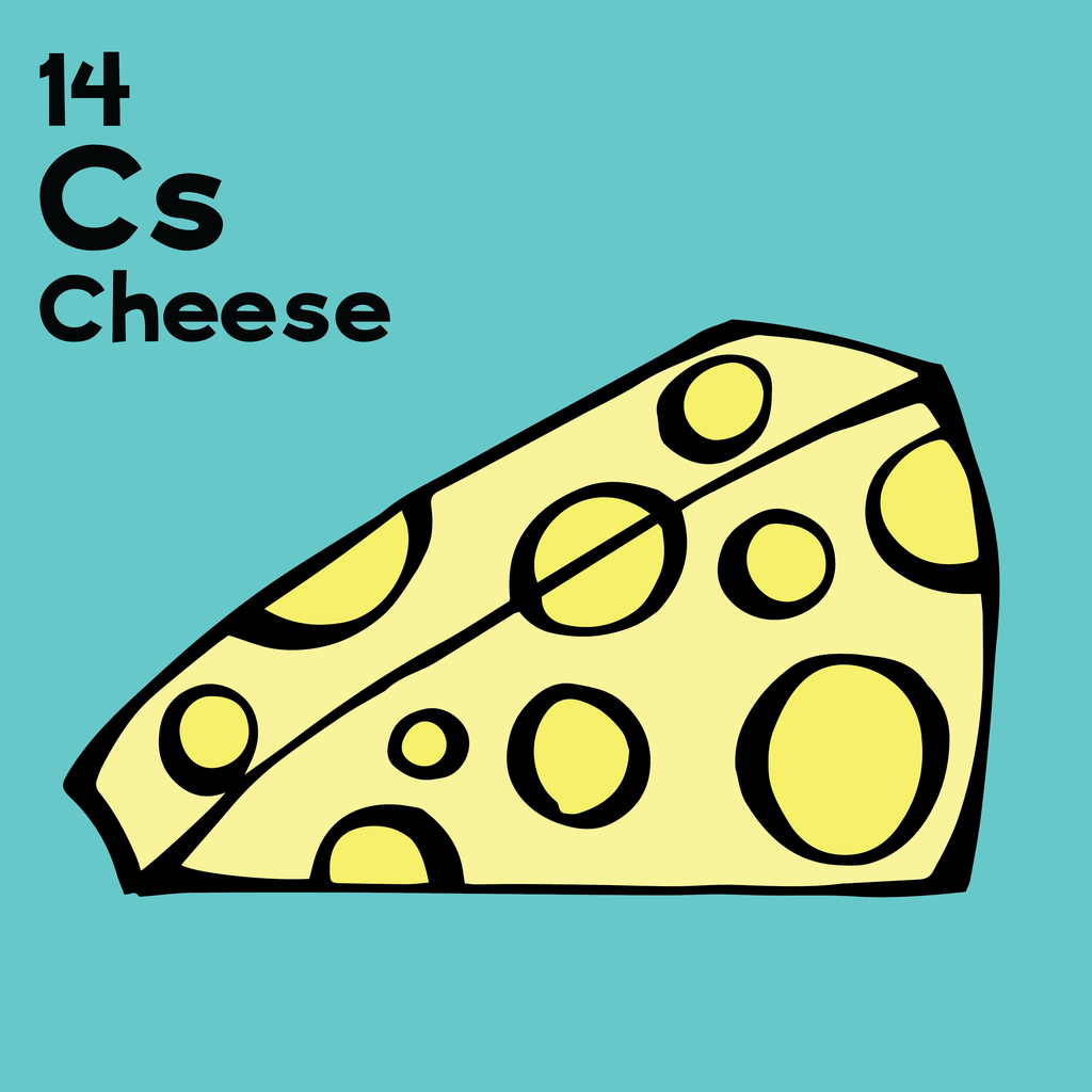 Cheese - The Food Table - Unframed 12x12 Print