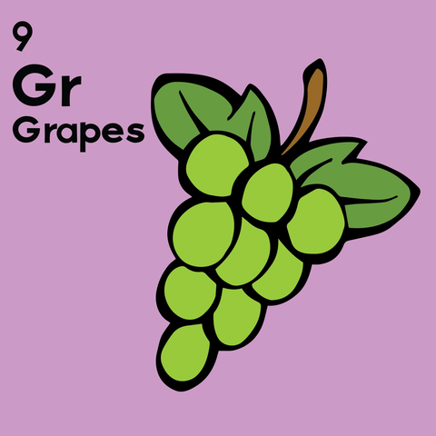 Grapes - The Food Table - Unframed 12x12 Print