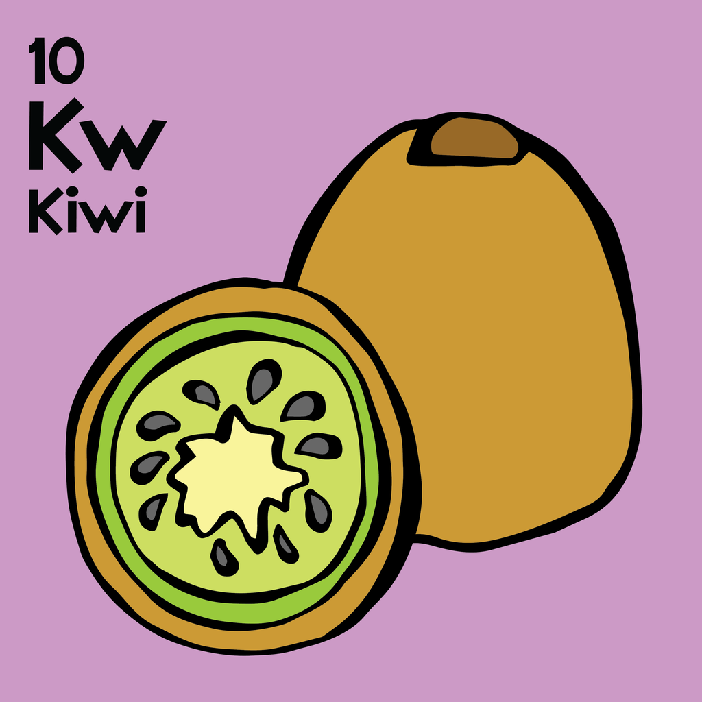 Kiwi - The Food Table - Unframed 12x12 Print