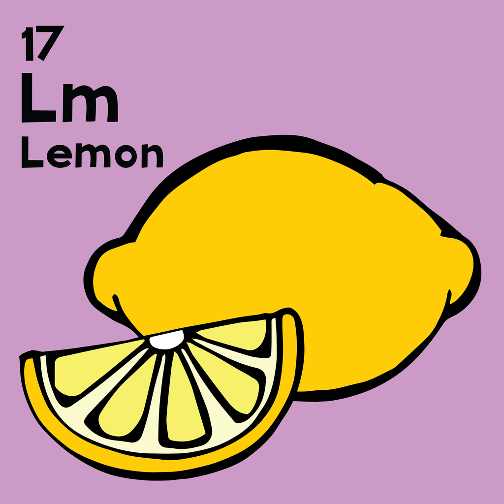 Lemon - The Food Table - Unframed 12x12 Print
